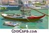 Vector Clip Art graphic  of a Portugal typical boat