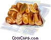 French bread Vector Clip Art picture