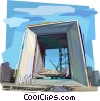La Grande Arche, Paris France Vector Clipart graphic