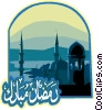 Vector Clipart image  of a Ramadan Blessed Greeting