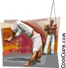 Vector Clipart image  of a Bahia culture Capoeira