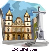 Brazilian Bahia culture, traditional church Vector Clip Art image