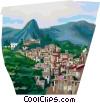 Vector Clip Art graphic  of a Favela of Rio de Janeiro