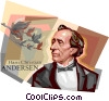 Vector Clip Art image  of a Hans Christian Andersen