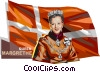 Queen Margrethe II of Denmark Vector Clipart illustration
