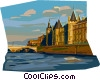 River Seine Paris, France Vector Clip Art picture