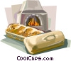 Vector Clip Art image  of a French bread