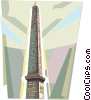 Vector Clipart graphic  of a Obelisk of Luxor in Paris