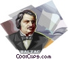 Vector Clip Art graphic  of a Honore de Balzac