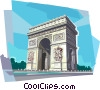Arc de Triomphe, Paris France Vector Clipart illustration