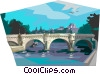 Vector Clip Art image  of a Pont Neuf bridge