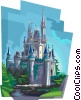 Paris Theme Park Castle Vector Clip Art picture