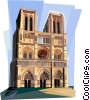 Notre Dame de Paris, France Vector Clipart image