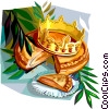 Vector Clipart image  of a Epiphany cake Galette Des Rois