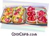French pastries Vector Clip Art picture