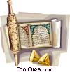 Vector Clip Art image  of a Purim Megillah with
