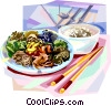 Vector Clip Art picture  of a Korean cuisine