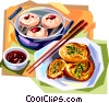 Vector Clipart image  of a Korean cuisine fried cakes