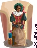 Vector Clipart graphic  of a Dutch Christmas Zwarte Piet