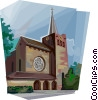 Vector Clip Art picture  of a Bunnik St. Barbara church
