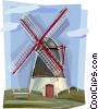 Vector Clipart illustration  of a Netherlands windmill