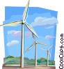 Netherlands wind power generators Vector Clip Art picture
