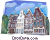 Vector Clip Art image  of a traditional Dutch architecture