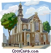 Amsterdam Western church Westerkerk Vector Clipart graphic