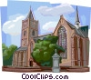 Vector Clipart illustration  of a Typical Dutch church