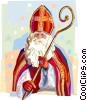 Vector Clip Art image  of a Dutch Christmas Sinterklaas