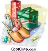 Dutch Christmas traditional gifts Vector Clip Art picture