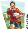 Vector Clipart graphic  of a Rugby player
