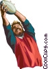 Rugby player Vector Clipart illustration