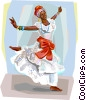 Vector Clip Art graphic  of a Bahia Carnival dancer