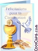 Vector Clip Art graphic  of a First Communion Solennelle