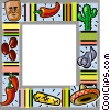 Mexican themed frame Vector Clipart illustration