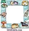 Vector Clip Art picture  of a Vacation themed frame