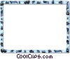 Vector Clipart picture  of a Downhill skiing frame
