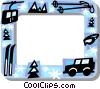 Downhill skiing frame Vector Clipart picture