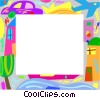 Urban living frame Vector Clipart illustration