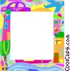 Urban living frame Vector Clip Art picture