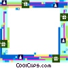 Christmas themed frame Vector Clip Art picture