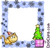 Vector Clip Art picture  of a Christmas Frame