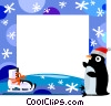Winter Frame Vector Clip Art picture