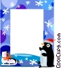 Vector Clip Art graphic  of a Winter Frame