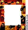 Vector Clip Art image  of a Halloween Frame