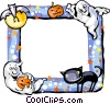 Vector Clipart graphic  of a Halloween Frame