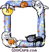Halloween Frame Vector Clipart illustration