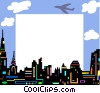 Vector Clip Art graphic  of a Cityscape frame