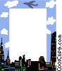 Cityscape frame Vector Clipart image